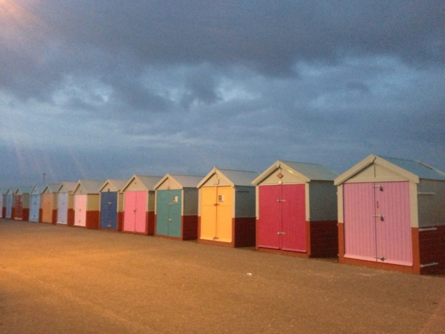 Beach huts along Hove seafront