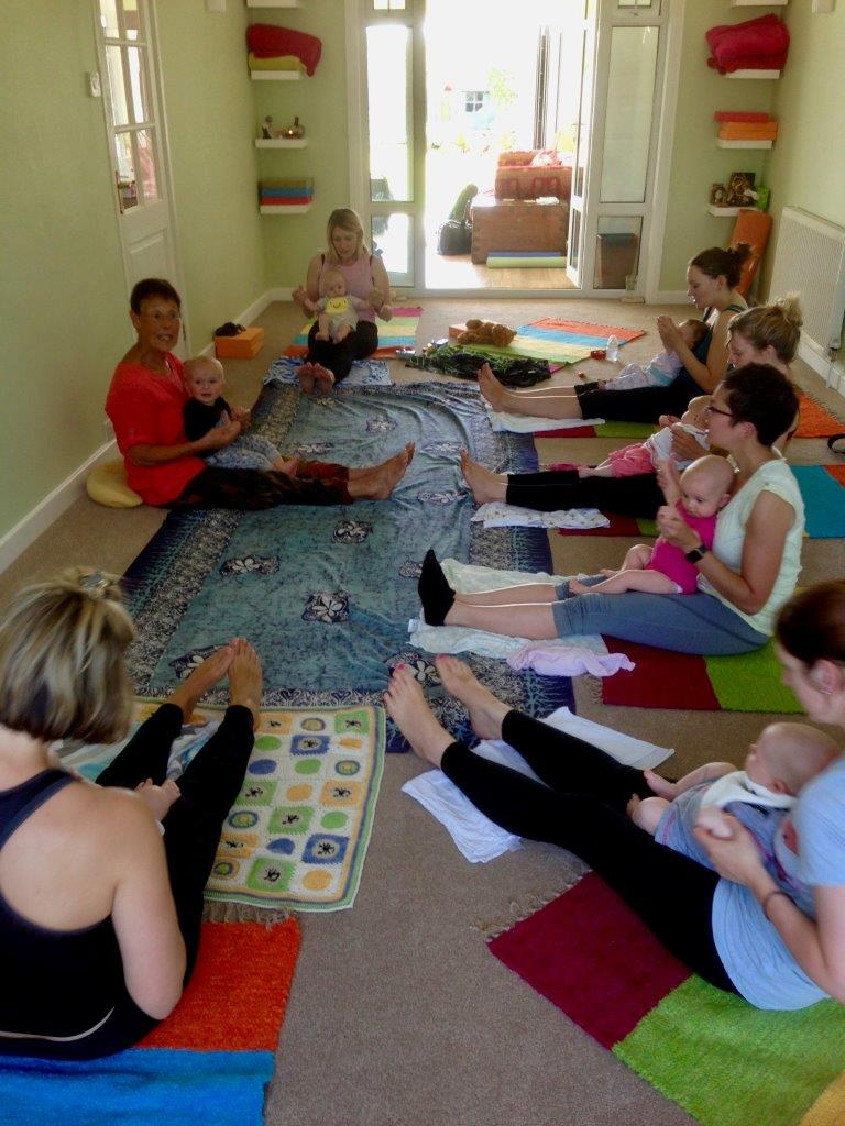 Postnatal Mum&Baby class in Sue's Yoga Studio