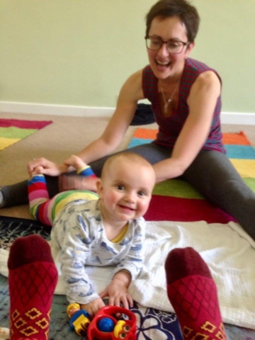 Mums love doing yoga with babies