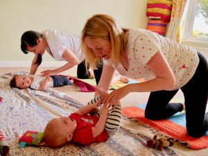 Mums tickling babies, mum and baby yoga in Hove